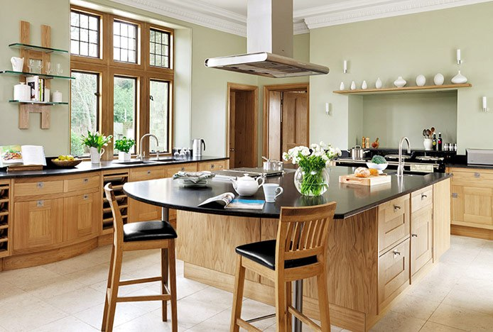 Oak Grasmere Stools in Country Kitchen