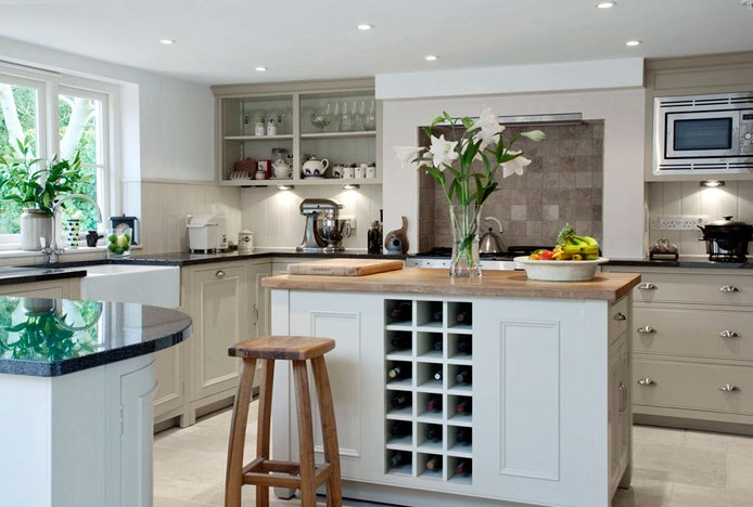 Oslo Oak Stools in Kitchen