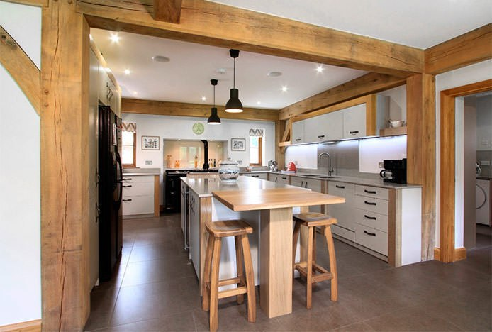 Oslo Stools in Oak Beam Kitchen