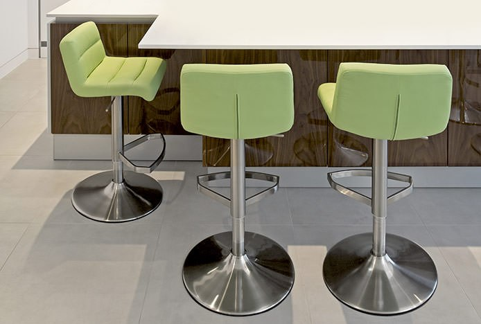 Padded Stools with Stitch Detailing