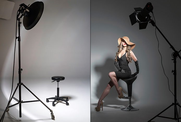 Photography Modelling Stools in Studio