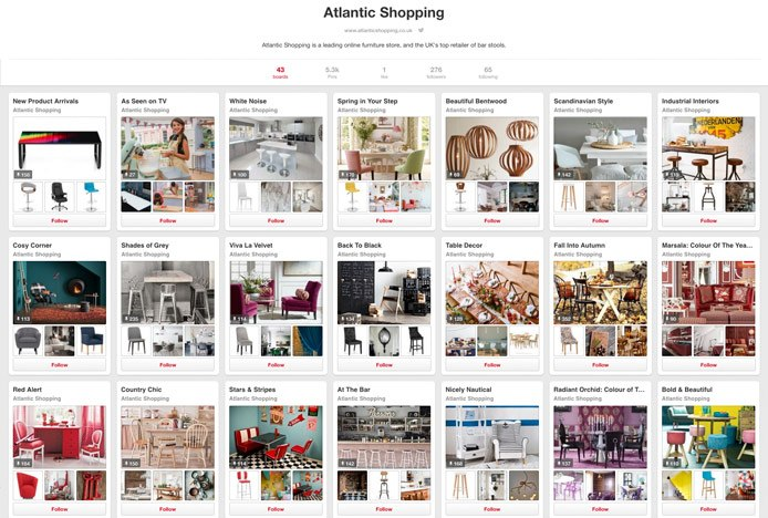 Atlantic Shopping Pinterest Mood Boards