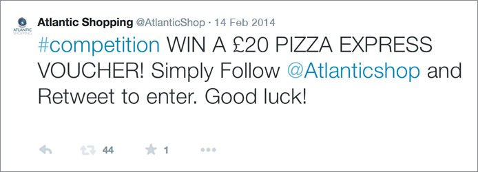 Pizza Express Retweet And Follow Competition