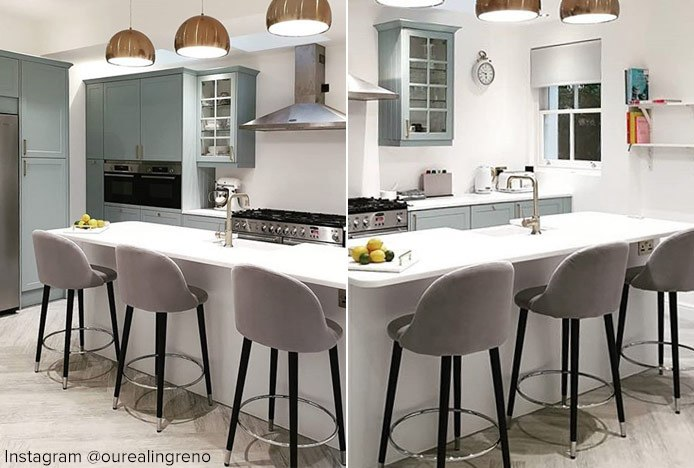 Polo Bar Stool Grey In Kitchen