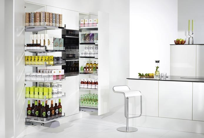 Pull Out Pantry In Stylish Kitchen