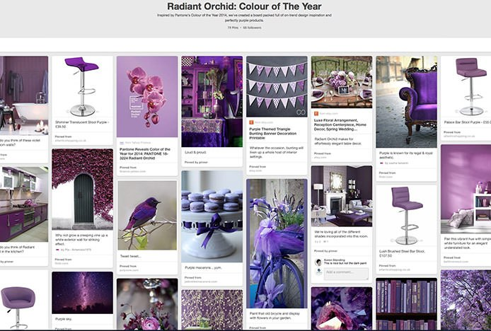 Radiant Orchid Pinterest Board