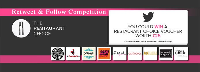 Restaurant Choice Retweet And Follow Competition