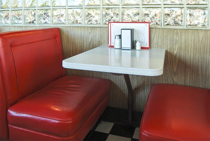 Retro Diner Booth Seating