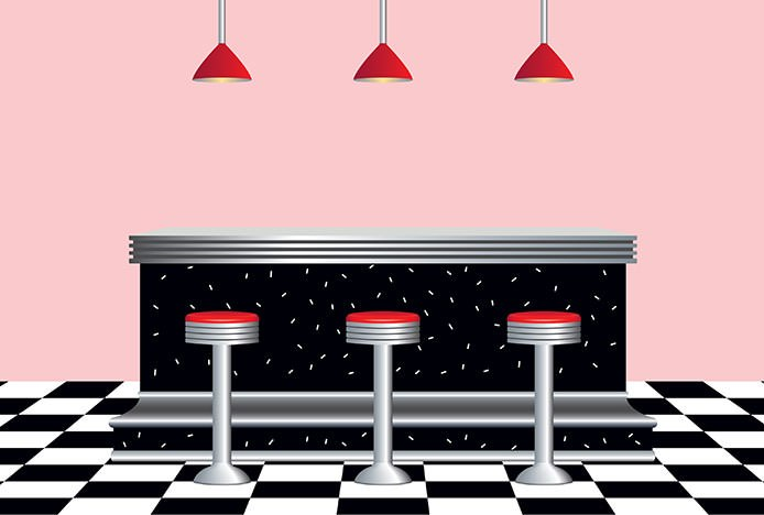 Retro Diner Floor Tiles