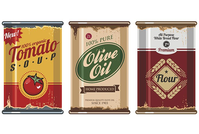 Retro Tin Packaging