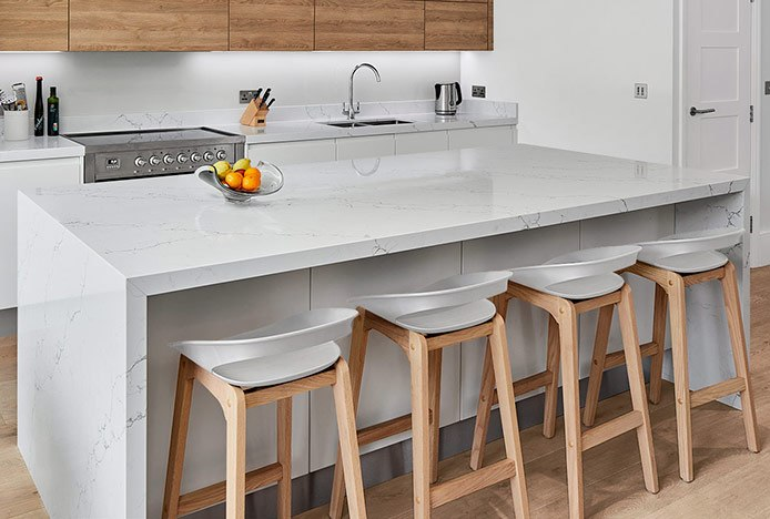 Crew Wooden Bar Stools In Scandi Kitchen