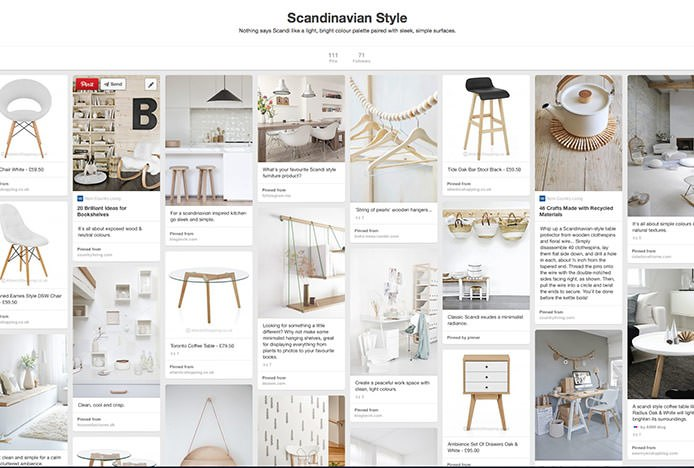 Scandinavian Style Pinterest Board