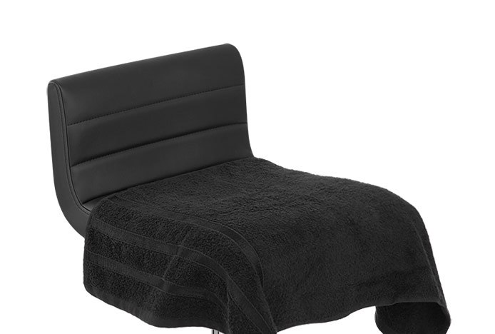 Bar Stool Covered With Towel