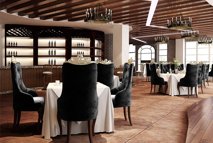Square Dining Tables In Restaurant