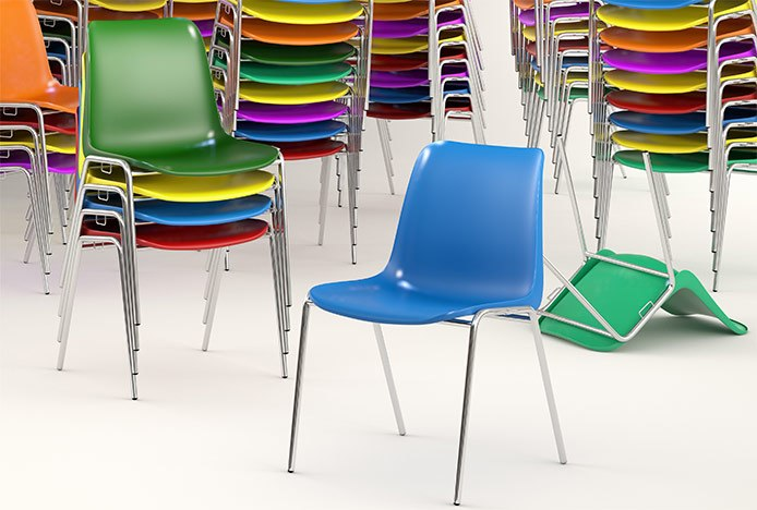 Stackable Plasic Colourful Chairs