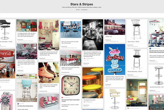 Stars And Stripes Retro Pinterest Board