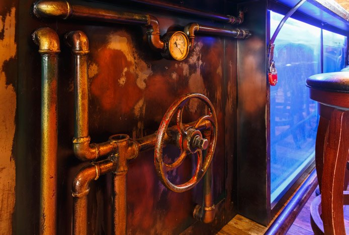 Steampunk Themed Bar
