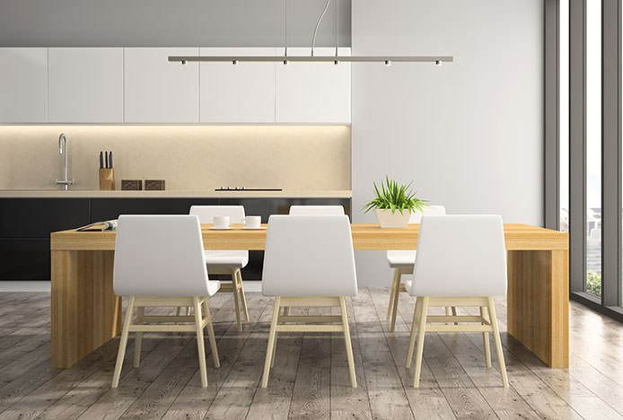 Symmetrical Dining Set In Kitchen