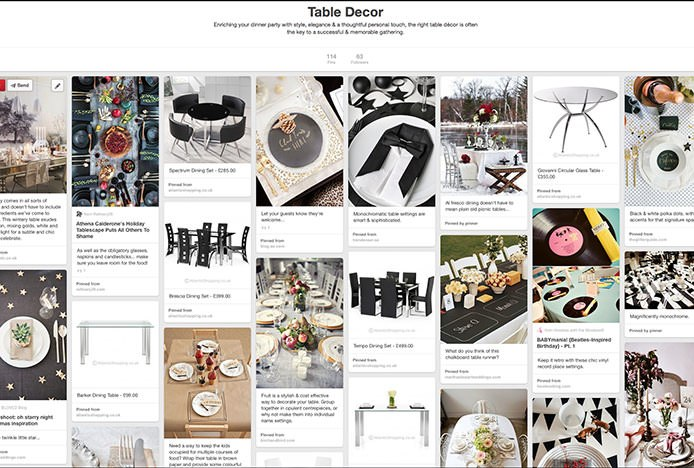 Table Decor Pinterest Board