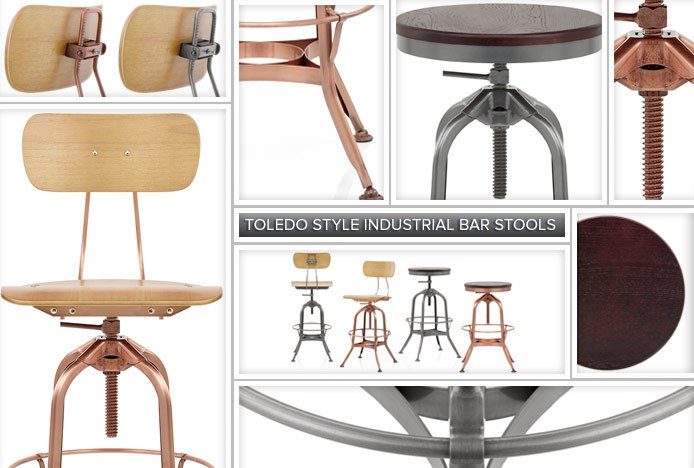 Toledo Draughtsmans Stool Features
