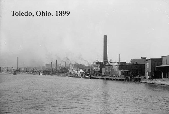 Toledo Ohio River Front 1899