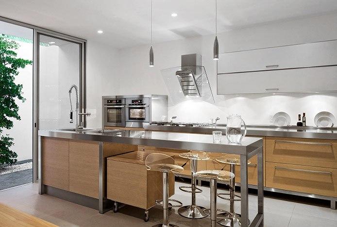 Transparent Comet Stools in Kitchen
