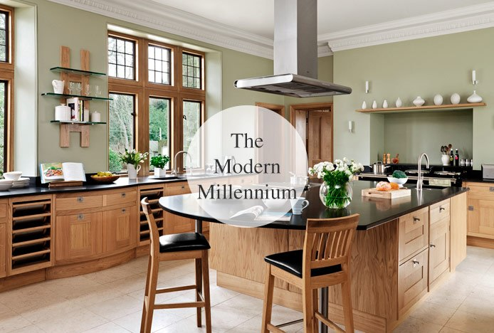 Grasmere Bar Stools In Typical Modern Kitchen