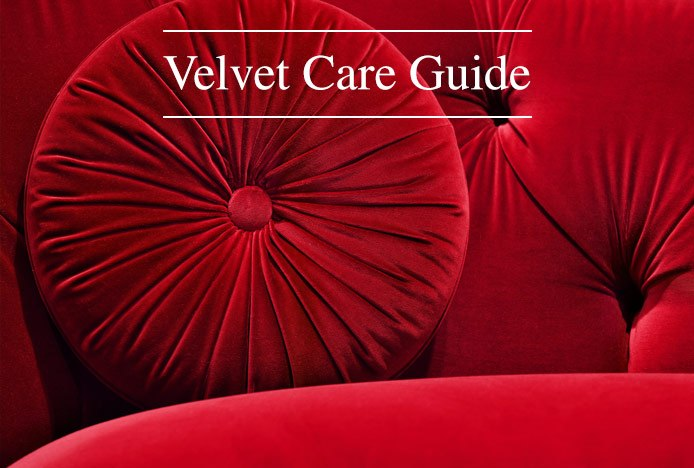 Velvet Furniture Care Guide