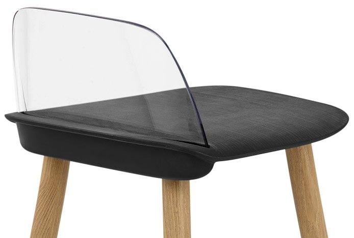 Visor Stool Acrylic Seat