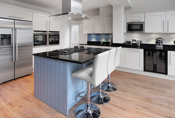 Deluxe High Back Stools at Kitchen Island