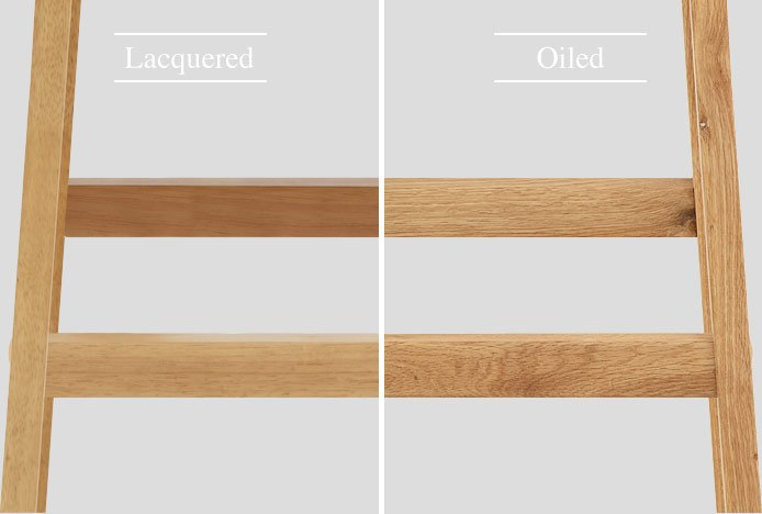 Lacquered And Oiled Wood Finishes
