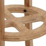 Walnut & Black Genesis Stool