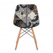 Puffa Footstool Grey Fabric