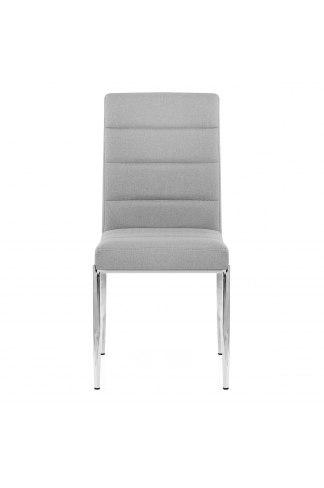 Taurus dining chair light grey fabric atlantic shopping - Atlantic shopping dining chairs ...