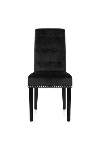 Moreton Dining Chair Black Velvet Atlantic Shopping
