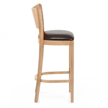 Blade Wooden Breakfast Bar Stool Oak