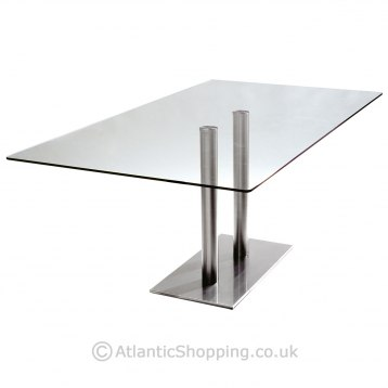 Helsinki Large Rectangular Glass Table