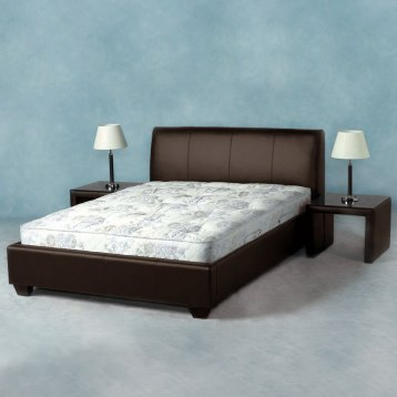 Palermo Faux Leather Bed Brown