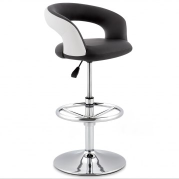 Black And White Monza Stool