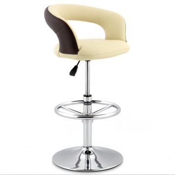 Cream And Brown Monza Stool