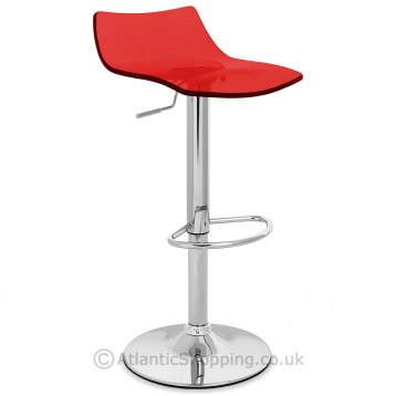 Crystal Bar Stool Red