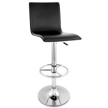 High Back Bar Stool Black
