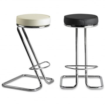 Zizi kitchen stool black atlantic shopping for Luxury leather bar stools