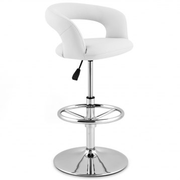 Monza Kitchen Bar Stool White