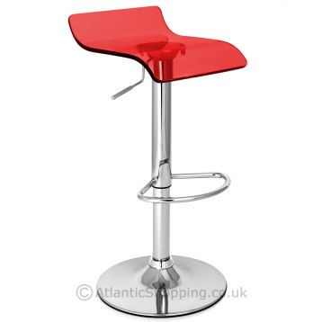 Shimmer Translucent Stool Red