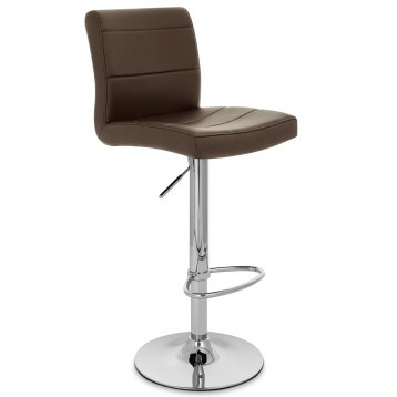 Chrome Breakfast Bar Stool Brown