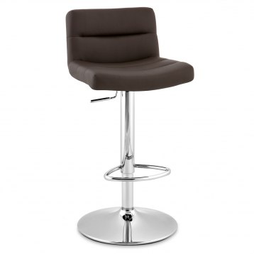 Lattice Bar Stool Brown