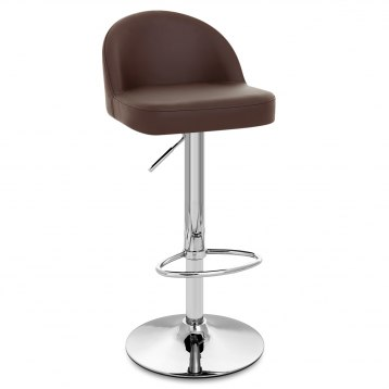 Mimi Chrome Stool Brown
