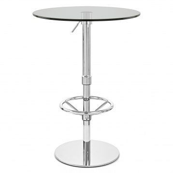 Ice Round Bar Table Clear Glass