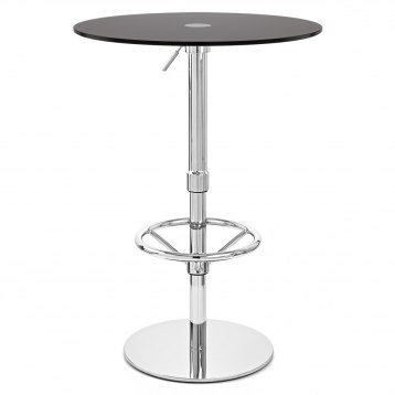 Ice Round Bar Table Black Glass